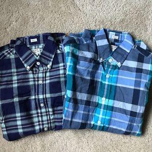 Lot of 2 j crew factory men's shirts